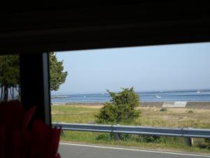 campsite view, Salisbury Beach State Reservation