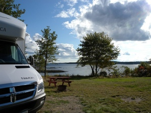 Sunset Point Campground, Harrington Maine