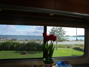View out window from campsite, St. Andrews, New Brunswick