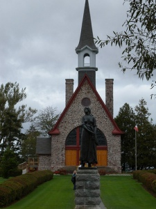 Statue of Evangeline, in front of Memorial Church, Grand Pre